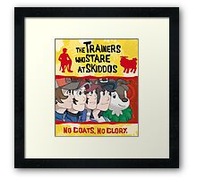The Trainers Who Stare At Skiddos II Framed Print
