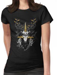 Deer Unicorn Womens Fitted T-Shirt
