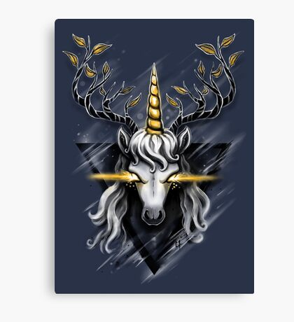 Deer Unicorn Canvas Print