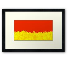 Gryffindor Minimalistic Floral  Framed Print