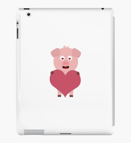 Pig with big Heart for Valentine iPad Case/Skin