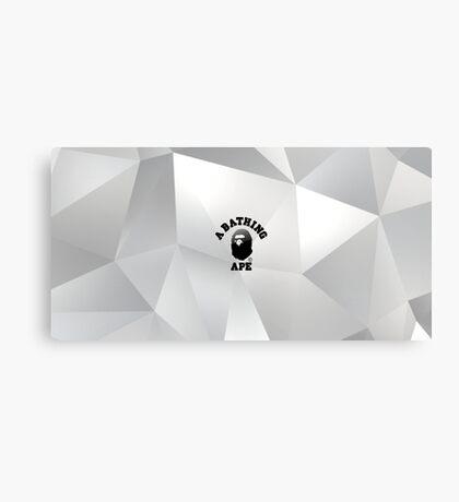 Bape 3D/Triangular Design Canvas Print