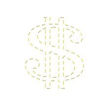 Letter S - Dollar $ Symbol by SmartTees