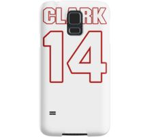 NFL Player Arceto Clark fourteen 14 Samsung Galaxy Case/Skin