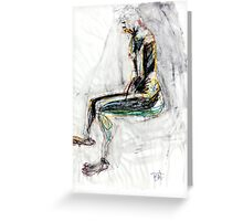 Abstract Figure - Sitting Greeting Card