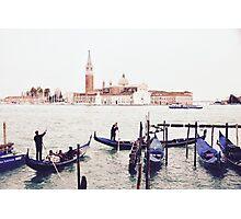 Venice Boatmen Photographic Print