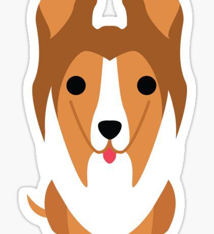 Sheltie Dog Emoji Innocent Face Sticker
