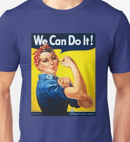 We Can Do It Rosie the Riveter Original Vintage Print Unisex T-Shirt
