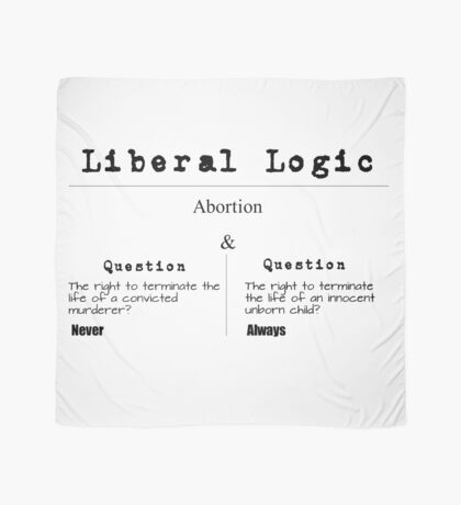 Liberal Logic | Exposing Hypocrisy | Abortion Scarf