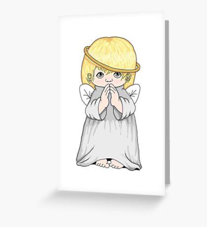 Precious Moments Angel Greeting Card