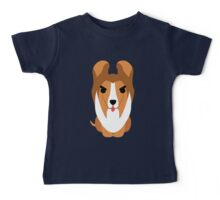 Sheltie Dog Emoji Angry and Mean Baby Tee