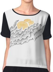 Abstract Silly Duck Chiffon Top