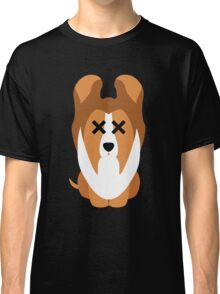 Sheltie Dog Emoji Faint and Knock Out Classic T-Shirt