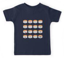 Salmon Sushi Emoji Different Facial Expression Kids Tee