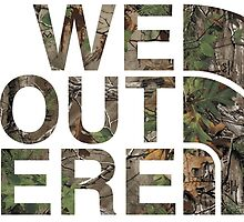 We Out Here (camo) by Saack City LLC