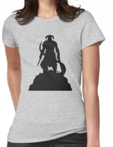 Skyrim Pixel Dragonborn Womens Fitted T-Shirt