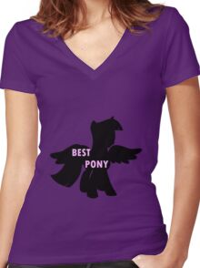 Twilight is Best Pony Women's Fitted V-Neck T-Shirt