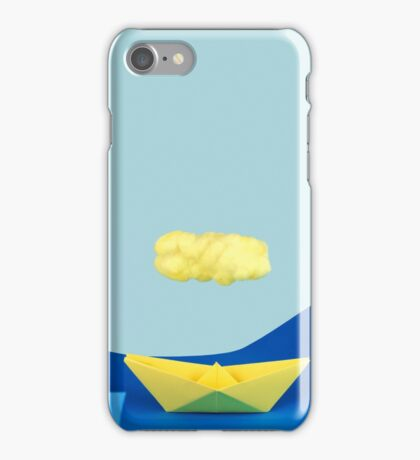 The yellow cloud over the yellow ship iPhone Case/Skin