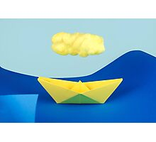 The yellow cloud over the yellow ship Photographic Print