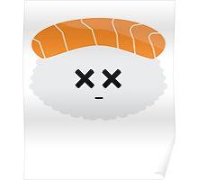 Salmon Sushi Emoji Faint and Knock Ou Poster