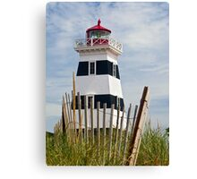 West Point Lighthouse and Dune Fence, PEI, Canada Canvas Print