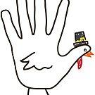 hand turkey by asyrum