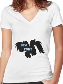 Rainbow Dash is Best Pony Women's Fitted V-Neck T-Shirt