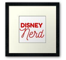Disney Nerd Framed Print