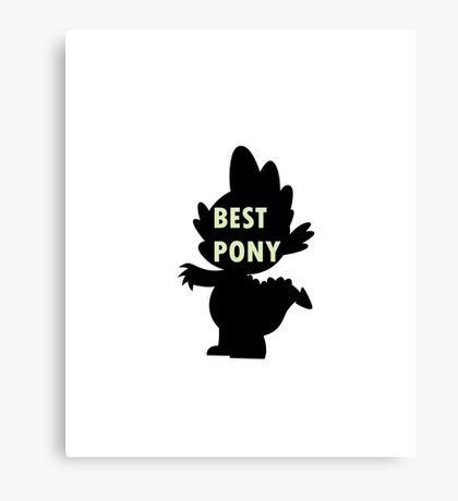 Spike is Best Pony Canvas Print