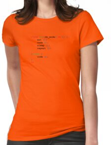 If do mode ON coding t-shirt Womens Fitted T-Shirt