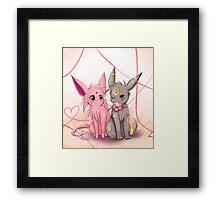 Valentines :: Espeon Umbreon Framed Print