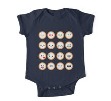 Salmon Maki Sushi Roll Different Face Expression One Piece - Short Sleeve