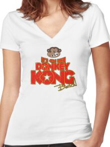 It's on like Donkey Kong! @#$%! Women's Fitted V-Neck T-Shirt