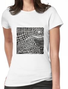 Long and Winding Road 2 Womens Fitted T-Shirt