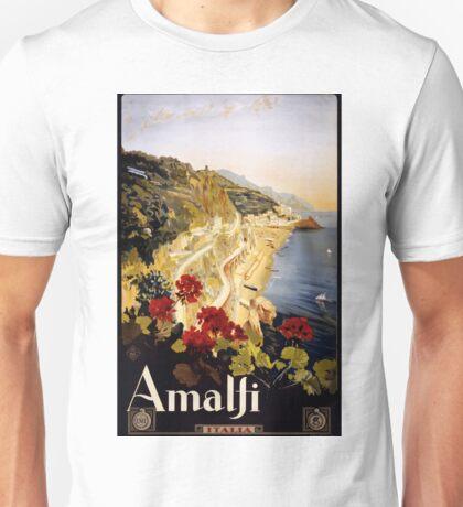 Vintage Travel Poster Amalfi Italy Unisex T-Shirt