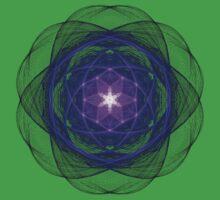 Energetic Geometry - Indigo Prayers One Piece - Short Sleeve