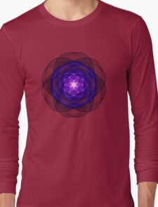 Energetic Geometry - Indigo Prayers Long Sleeve T-Shirt