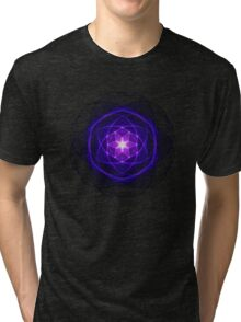 Energetic Geometry - Indigo Prayers Tri-blend T-Shirt