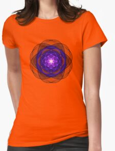 Energetic Geometry - Indigo Prayers Womens Fitted T-Shirt