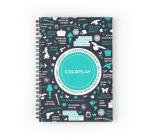 coldplay Spiral Notebook