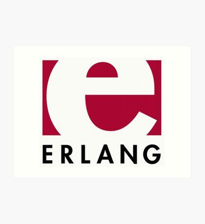Erlang programming language logo Art Print