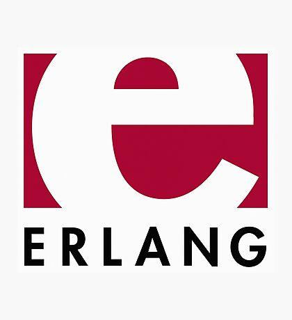 Erlang programming language logo Photographic Print