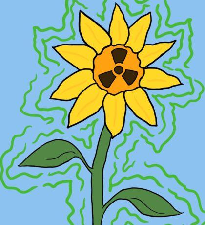 Radioactive Sunflower Sticker