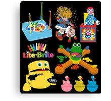 90s Nostalgia Toys Canvas Print