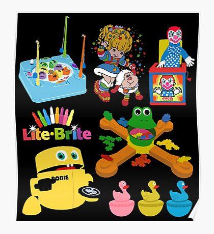90s Nostalgia Toys Poster