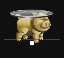 Glitch furniture sidetable pig glass table T-Shirt