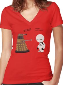 Dalek and Marvin mashup Women's Fitted V-Neck T-Shirt