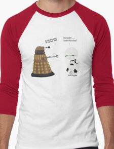 Dalek and Marvin mashup Men's Baseball ¾ T-Shirt