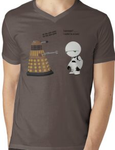 Dalek and Marvin mashup Mens V-Neck T-Shirt