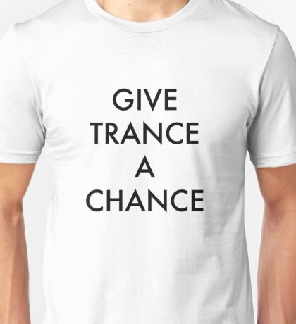 Trance Black Unisex T-Shirt